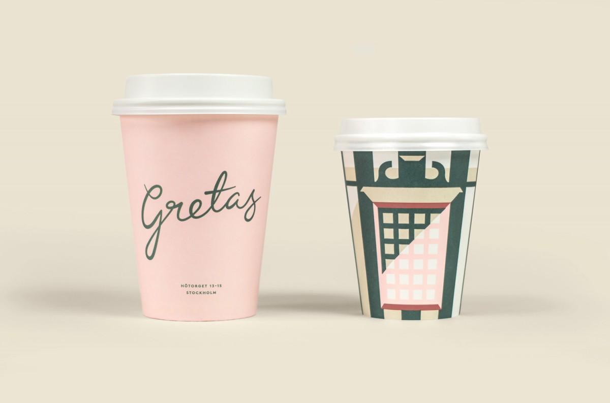 瑞典Gretas咖啡馆品牌形象标志