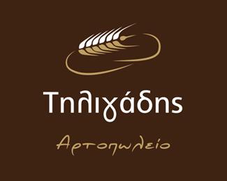 希腊面包店标志设计欣赏