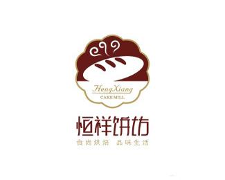蚁巢品牌恒祥饼坊标志欣赏