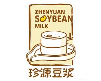 珍源豆奶logo标志