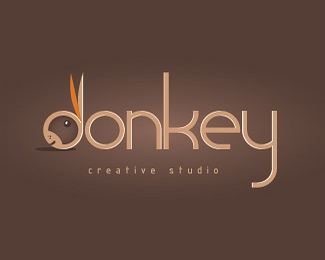 小驴创意工作室标志设计