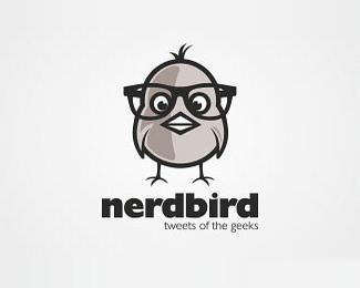 带着个大眼镜的小鸟标志