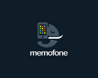 一只带手机的大象memofone