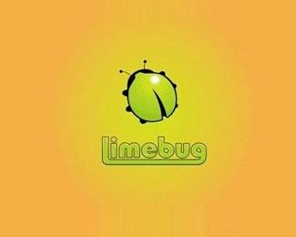 卡通limebug标志设计