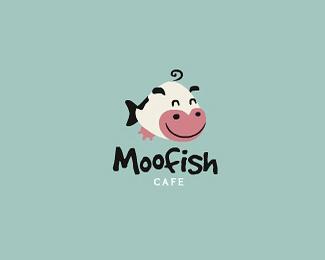 咖啡厅moofish标志设计
