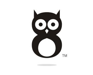 猫头鹰卡通标志