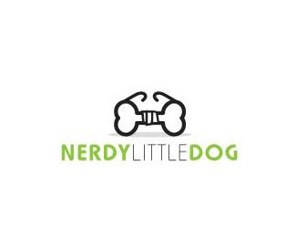 nerdy little dog标志logo
