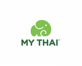 泰国大象标志设计