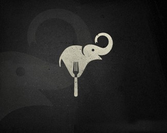 国外大象logo设计