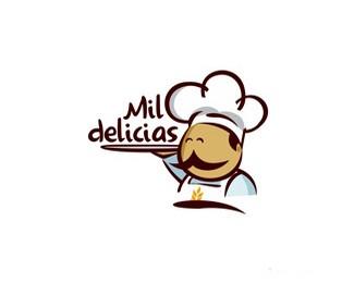 西班牙千年美食标志设计欣赏