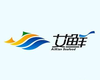 汕尾艾鲜海产品牌形象标志