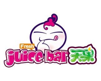 天果果汁饮品标志设计