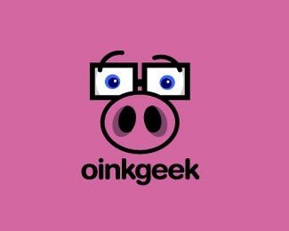 眼镜猪标志欣赏