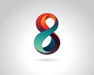 阿拉伯数字8标志设计