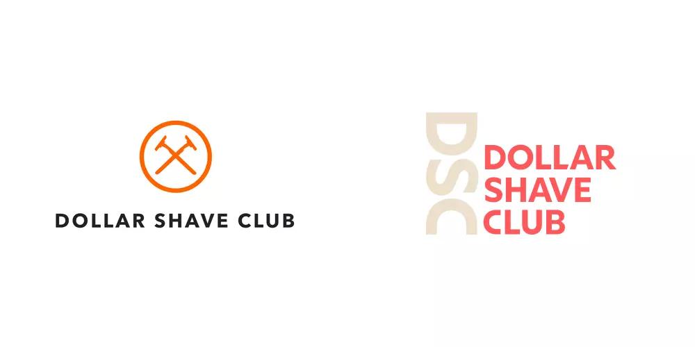 Dollar Shave Club男士订阅制个人护理品牌旧标志