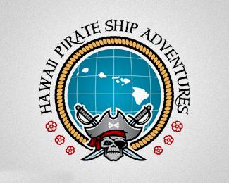 美国夏威夷海盗船冒险旅行公司标志