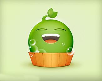 豌豆泡泡浴图标