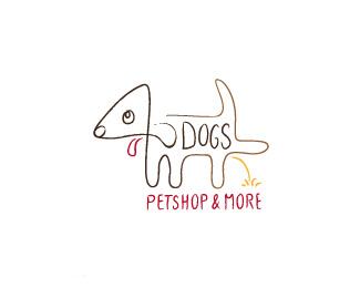 沈阳宠物店搞笑标志4DOGS