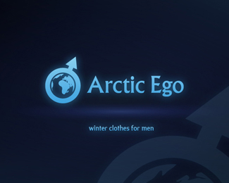 北极自我男士冬装品牌标志