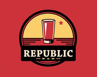 共和国酒吧标志
