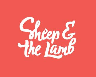 绵羊和羔羊艺术字体