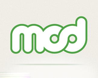 字母MOD标志设计