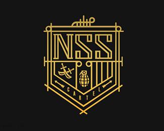 个人服装品牌标志NSS