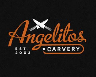 食品餐饮企业的艺术字体Angelitos
