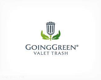 外国垃圾回收公司 垃圾桶标志GoingGreen