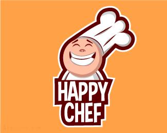 上海厨师标志快乐的