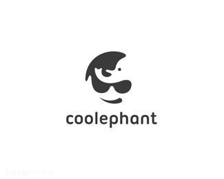 带着墨镜的青少年和一头大象coolephant