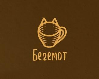 咖啡馆标志Begemot