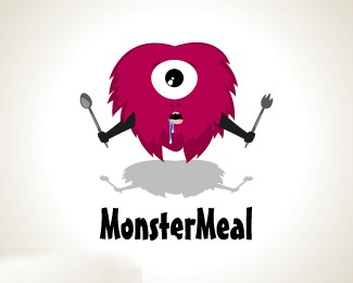 国外快餐店标志MonsterMeal