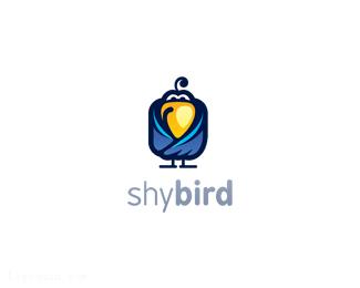 害羞的小鸟标志