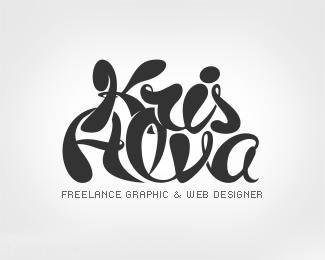 Krisalva字体标志