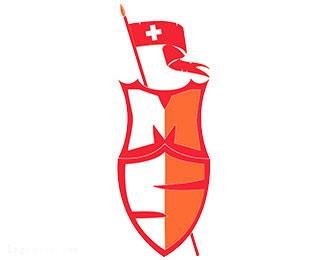 有点像瑞士国旗的标志MS盾牌