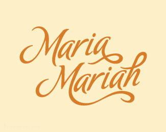 服装和饰品商店玛丽亚字体设计