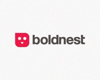 卡通鸟标志boldnest
