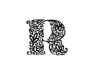 R字母标志