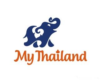 泰式图案旅游网站MyThailand大象
