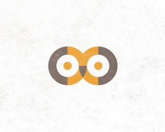 几何猫头鹰标志