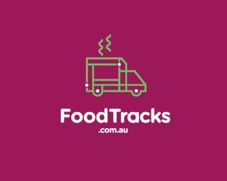 Foodtracks网站的运送食品卡车