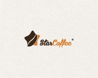 上海咖啡连锁店咖啡馆StarCoffee标志