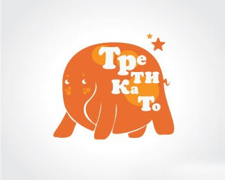 俄罗斯艺术大师设计的害羞的大象标志